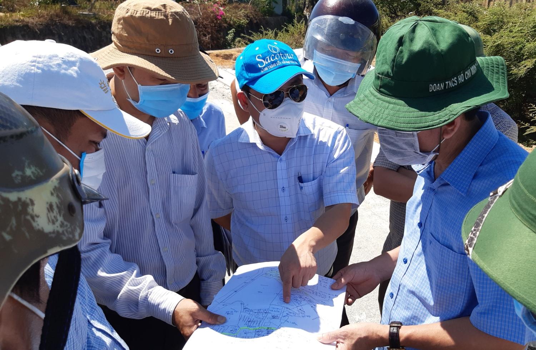 Lãnh đạo thành phố kiểm tra tại dự án khu dân cư tái định cư khối phố 4, phường An Sơn
